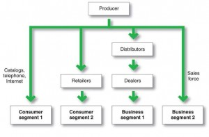 Image of Distribution Channel Flowchart for Software & Hardware